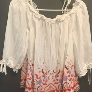 Cute off shoulder blouse gently used